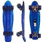 Skate mini longboard abec 7 rodas gel shape transparente abm�dia