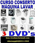 Curso aprenda a consertar maquina de lavar * 3 dvds