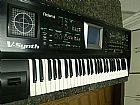 Teclado roland v-synth sintetizador semi-novo usado em casa apenas
