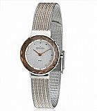 Rel�gio skagen two tone mesh with mirrored case watch 456srs1
