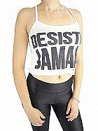 Moda fitness Blusa Cropped Alcinha Viscolycra