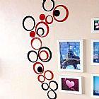 Circulos Decorativo Conjunto 10 Pecas Cores Variadas em Polistireno