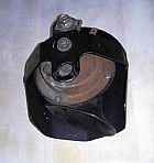 buzina original da harley com capa (preta fosca)