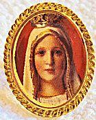 Boton Nossa Senhora de Fatima 15mm x 19mm x 9mm,  Muito Bonito Apesar da Imagem Nao Estar Boa