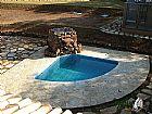 Pedra caco de Sao Tome para piscina