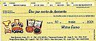 Mister Forno,  Promocao de Pizzas Para Clientes no Ano de 2001,  Rarissimo Para Colecao