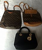 Lote com 2 Bolsas Louis Vuitton e uma Lady Di