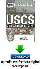 Apostila - AUXILIAR ADMINISTRATIVO I - Universidade Municipal de Sao Caetano do Sul (USCS)-digital