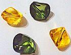 134 Baloes Verde Musgo Translucidas Em Acrilicos Facetados Retorcidos no Entorno