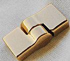 Fechos Magneticos Com Ima,  Metal Ouro Flash  E Ouro Rose,  Abertura Lateral Giratoria