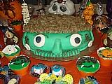 bolos docinhos maca do amor halloween mesa de guloseimas cupcake pirulito arvore francesa