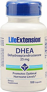 Natural Dhea 25mg 100caps Life Extension