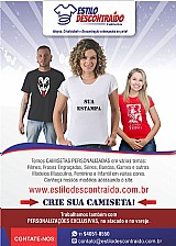 Camisetas personalizadas masculinas, femininas e infantis -