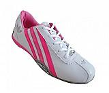 Tenis Adidas - Tenis Adidas Goodyear II Branco e Rosa