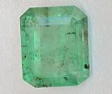 Pedra preciosa esmeralda retangular com 2,5 cts
