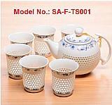 Sell glowing porcelain coffee & tea set: