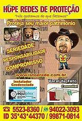 Rede de protecao na Zona Sul de Sao