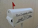 Caixa de correio americana para jardim e condominio em alumi