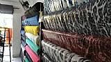 Montagem e estoque de loja de tecidos completa