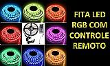 10m kit fita led color rgb 5050 cr fonte 10a amplificador