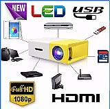 Mini projetor yg-300 portatil led suporte 1080p 400 - 600 lu