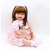 Bebe reborn carmelita 65 cm - corpo de pano