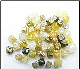 Diamantes cubicos em bruto quilate