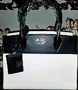 Bolsa modelo luxo marca famosa prada