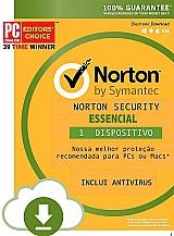 Norton security essencial 2018 1 ano 1 pc