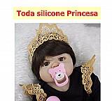 Bebe reborn princesa  toda silicone!
