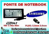 Fonte carregador notebook samsung 19v 3.16a 60w em salvador ba