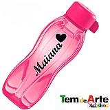 Adesivos nome e simbolo para personalizar garrafas tupperware copo caneca