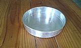 Forma em aluminio redonda para bolo