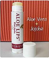 Bastao multifuncional para a pele aloe lips com aloevera e jojoba