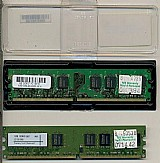 2 pentes de memoria ram ddr2 de 1 gb pc 667 para computador de mesa