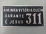 Placas com numeros e frase para residencias em aluminio fund