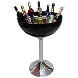 Taca champanheira de acrilico preto