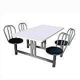 Mesa refeitorio 4 cadeiras giratorias – mesrg-004