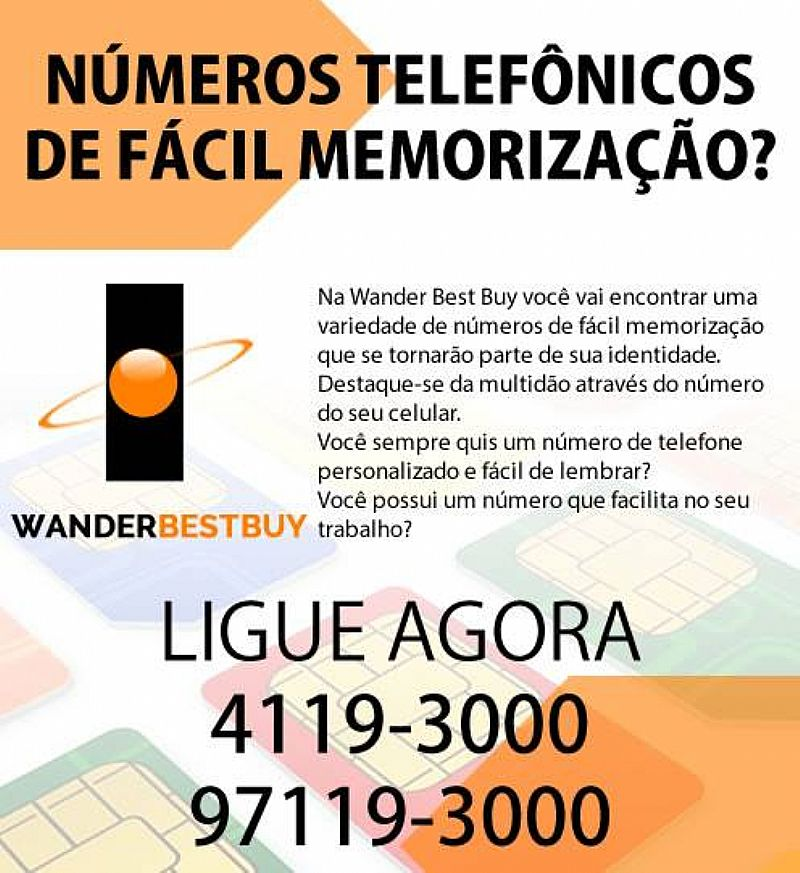 Numeros Telefônicos de facil memorizacao