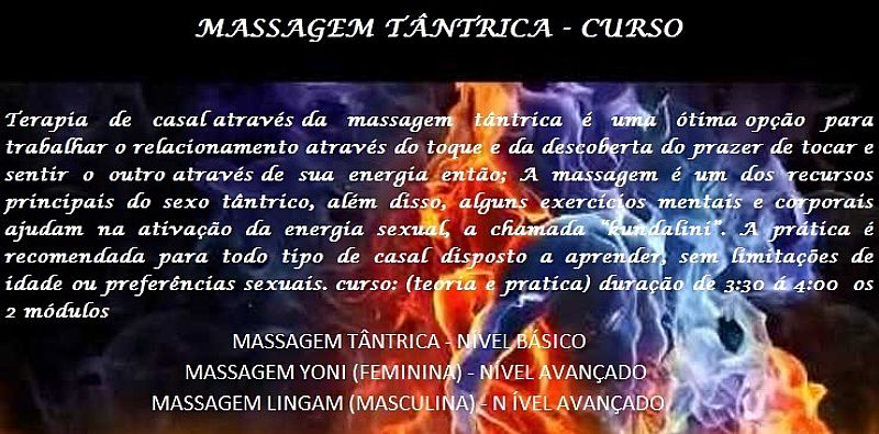 Curso massagem tantrica em  São paulo