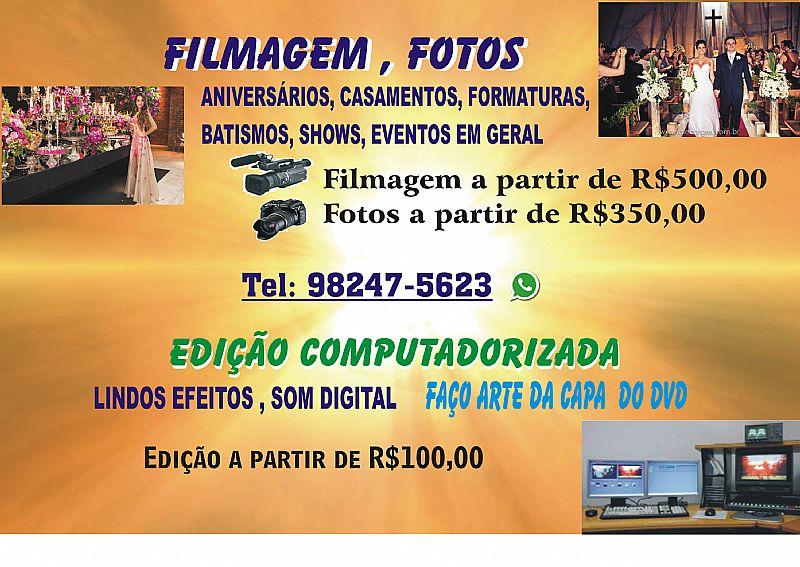 Filmagem e fotos para todos os eventos
