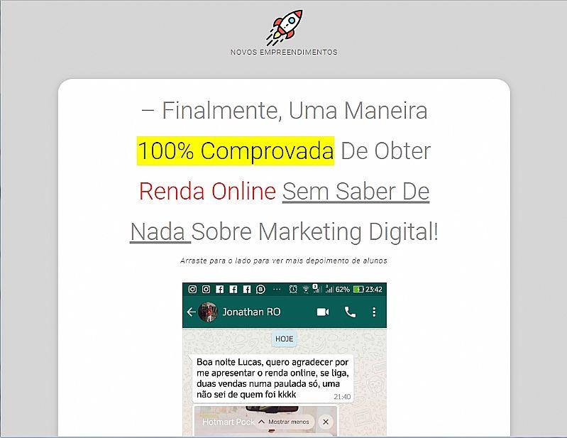 Novos empreendimentos digitais - obtenha renda online