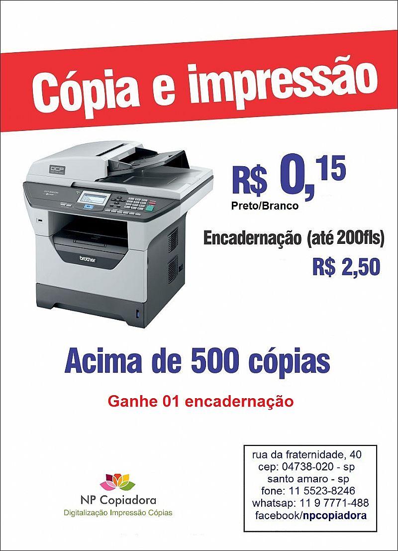 Impressao, Digitalizacao, Scanner, Plastificacao!