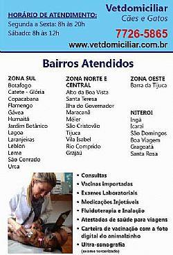 Veterinaria Domiciliar de Caes e Gatos no Rio de Janeiro