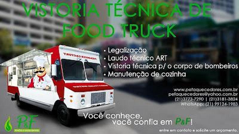 LAUDO    TECNICO PARA O CORPO DE     BOMBEIRO  ;FOOD TRUCKS