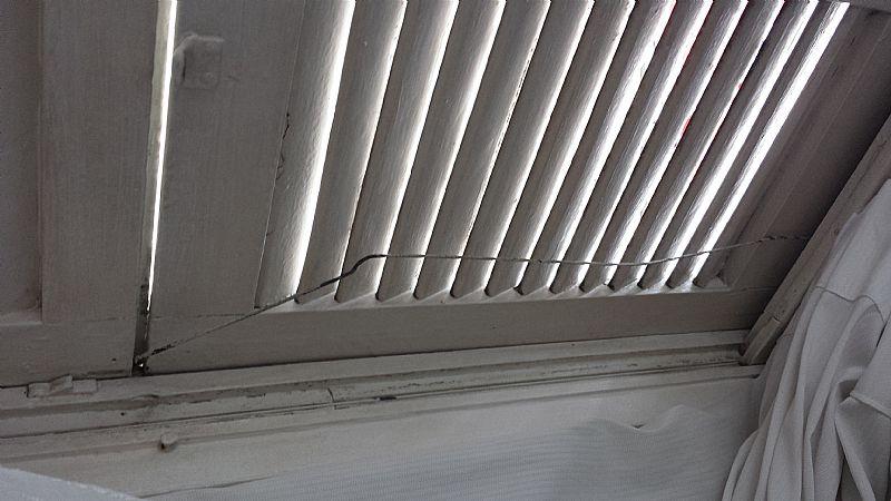 Conserto de janela de cabos de aco