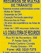 Recursos contra Multas de Transito e Susp. da CNH no Parana