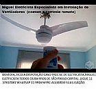 Instalacao: ventiladores (comum e controle remoto)